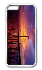 Bahrain Persian Gulf sea pier sunset purple sky PC Transparent Hard Case for Apple iPhone 6(4.7 inch)