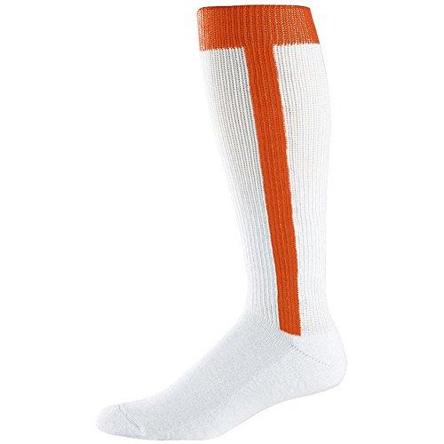 Augusta Intermediate Two-In-One Baseball Sock (Orange, Medium (9-11)) by Augusta