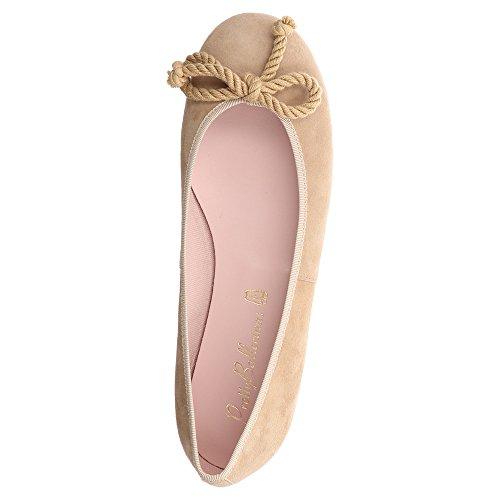 Pretty Ballerinas Women's 35663 Ballet Flats Beige Beige Beige Size: 7 5Su4ZhH2iG
