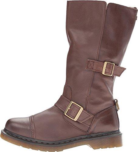 Dr. Martens Kathleena Calf Length Boot UK Size 3 Dark Brown Leather rrRC63