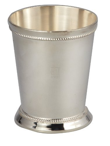 Elegance Silver 90372 Silver Plated Small Beaded Mint Julep Cup, 6 oz.