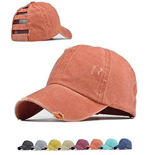 Fashion High Messy Bun Top Hats for Women Baseball Caps Ponytail Baseball Hats Dad Ponycaps
