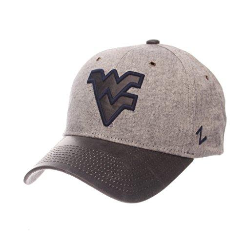 - ZHATS NCAA West Virginia Mountaineers Adult Men The Supreme Cap, Adjustable, Gray