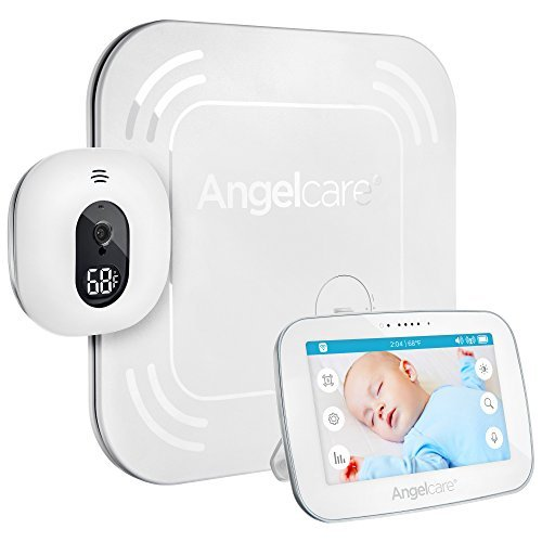 "Angelcare Baby Movement Monitor with 5"" Touchscreen Display and Wireless Sensor Pad (AC517)"