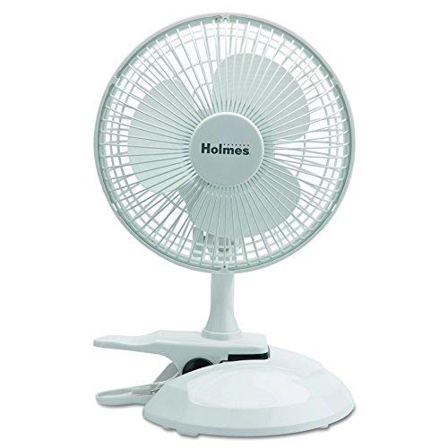 Holmes Convertible Desk & Clip Fan, White HCF0611A-WM