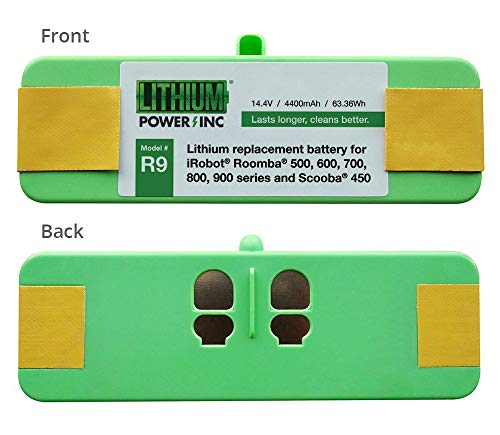 980 Series - Lithium Roomba Replacement Battery For iRobot Roomba 980, 960, 890, 690, 614, 900, 800, 700, 600, 500 Series and Scooba 450, 4400mAh - UL&CE Certified Battery Pack