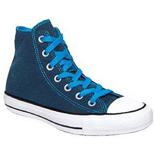 Converse Women's Chuck Taylor? All Star? Dark Wash Neons Hi Atomic Blue 7 B - Medium