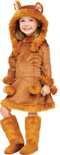 Toddler/girl's Sweet Fox Costume (Toddler Halloween Costume- Sweet Fox Toddler Costume 3T-4T)