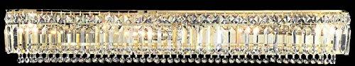 "Classic Lighting 1626 G CP Ambassador, Crystal, Vanity Lighting, 5"" x 36"" x 6"", 24k Gold Plate"