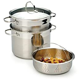 RSVP International Endurance Stainless Steel Multi-Purpose Stockpot 8-qt.