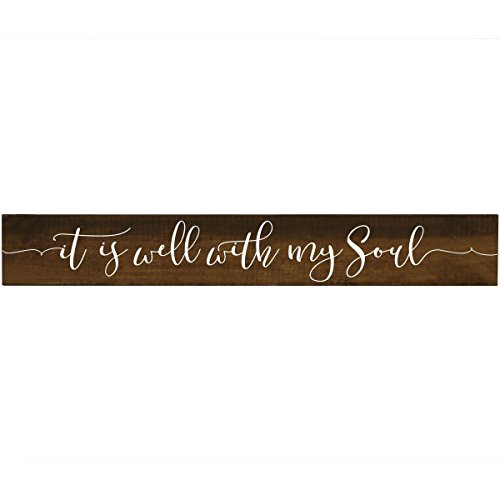 It Is Well with My Soul Pine Block Christian Quotes for Women and Men Gift ideas for Husband, Wife, Family, and Best Friends 2