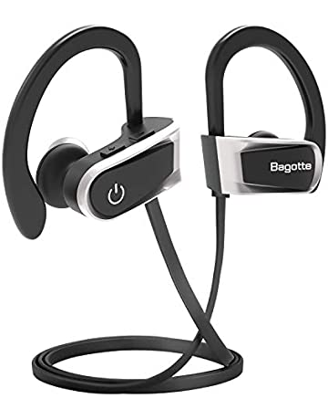 d350e2996d8 Auriculares Bluetooth, Bagotte In-Ear Auriculares Bluetooth 4.1 Cascos  Inálambrico Deportivos Resistente al Agua