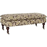 Safavieh Hudson Collection Sutton Pillowtop Bench, Brown and Green