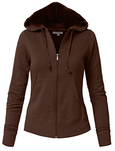 Simple Two Person Costumes (NE PEOPLE Womens Basic Zip Up Hoodie Jacket with Pockets S-3XL)