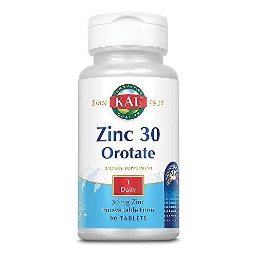 - Kal 30 Mg Zinc Orotate Tablets, 90 Count