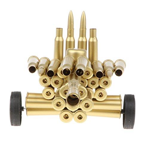 Artillery Shell - Baoblaze Retro Metal Art Craft Bullet Shell Artillery Bolts Nuts Figurine Showcase Model Display Home/Bar Decor