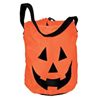 "Happy Halloween Pumpkin Fabric Tote Bag Party Favour, Fabric, 12"" x 10"""