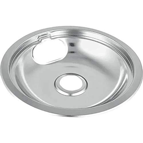 EINCcm 6 Pack Chrome Drip Pan Fits Ge & Hotpoint Ranges Set Cooktop Drip Pan Reflector Bowls with Locking Slot Kitchen Utensils & Gadgets (A)