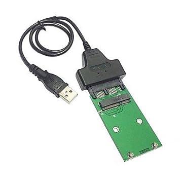 AV-CABLES USB 2.0 para el Mini pci-e mSATA SSD 1.8