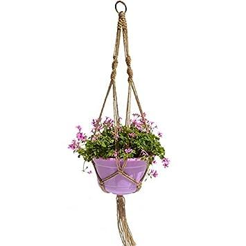 Pflanzen Hängemappen Jute Seil Makramee für Zierpflanzen von innen ...