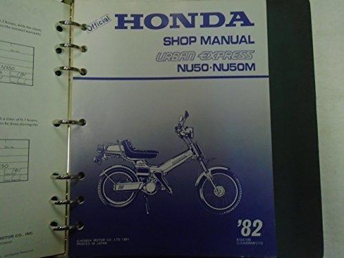 (1982 HONDA NU50 NU50M Urban Express Service Repair Shop Manual Factory OEM ***)