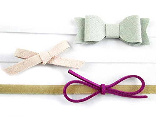 Light Magenta Package (Baby Wisp Infant Mixed Bows 3 Faux Suede Baby Headbands Girls Newborn (Infant (3-12M), Light Grey, Light Pink, Magenta))