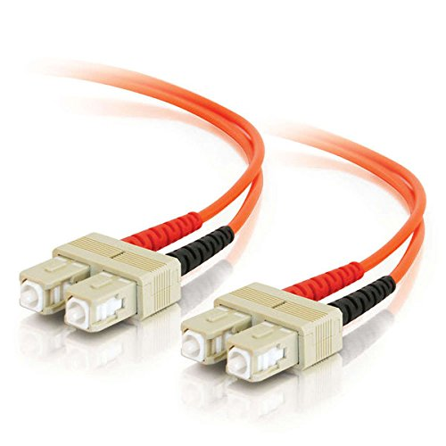 C2G/Cables to Go 13557 SC/SC Duplex 62.5/125 Multimode Fiber Patch Cable (30 Meters, Orange) ()