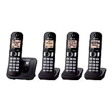 Panasonic KXTGC214B Expandable Digital Phone with 4 Cordless Handsets