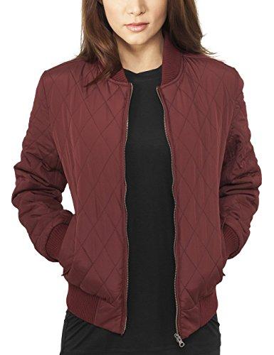 Chaqueta Ladies Diamond 606 Urban Burgundy Nylon Jacket para Mujer Classics Quilt Rot awxq5Yp