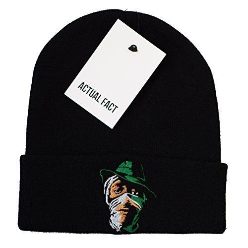Chapeau Bonnet Actual Hiver Mos Laineux Écharpe Noir Hop Fact Roulé Hip Def aa6UZ