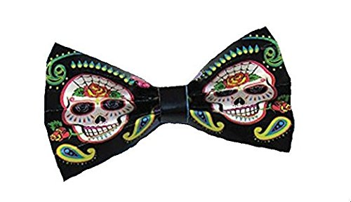[Day Of The Dead Bowtie] (Costume Ideas For Day Of The Dead)