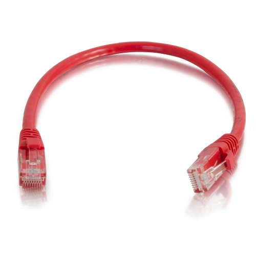C2G/Cables to Go 15224 Cat5e Snagless Unshielded (UTP) Network Patch Cable, Red (14 Feet/4.26 ()