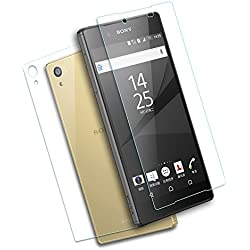 """Sony Xperia Z5 Premium Screen Protector,SEVENMORE® (Front + Back) Premium Tempered Glass Screen Protector,2.5D Round Edge/9H Hard/Anti-scratch/Shatterproof/High Response For Sony Z5 Premium (5.5"""")"""