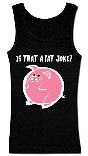 Is That A Fat Joke? Fat Round Piglet T-shirt senza maniche da donna
