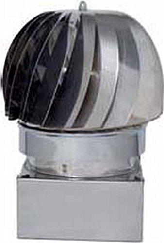 Europrofil Fumaiolo Comignolo Girevole Eolico attacco Quadrato 37x37cm ZN370X370