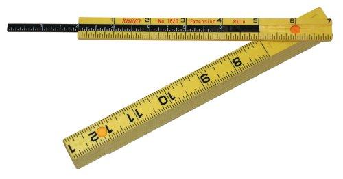 Folding Carpenters Ruler - Rhino Rulers Folding Carpenter's Ruler 6' Length with 6