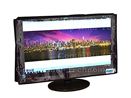 Comp Bind Technology Dust Cover for Dell S2415 LED HD 23.8 Monitor Front Clear Transparent 21.3W x 1.8D x 12.7H Black Nylon Anti-Static Dust Cover Dimensions