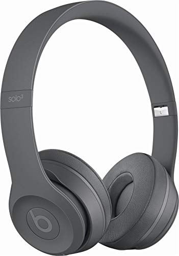 Beats Solo3 Wireless On-Ear Headphones - Neighborhood Collection - Asphalt Gray (Certified Refurbished)