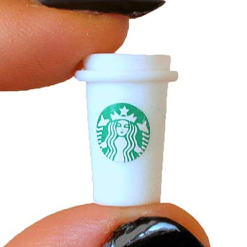 3x Dollhouse Miniature Starbucks Coffee Cup Mug Drink