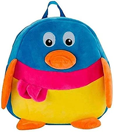 Punyah Creations Soft Stuffed Cute Duck Plush Bag for Kids -(Blue Color)