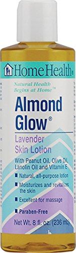 Home Health Almond Glow Lavender Skin Lotion & Massage Oil - 8 fl oz - Moisturizes & Revitalizes Skin, With Peanut, Olive & Lanolin Oils Plus Vitamin E - Non-GMO, Paraben-Free, Vegetarian (Health Body Oil Home)