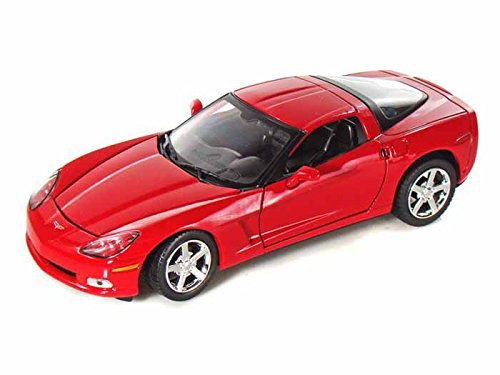 2005 Chevrolet Corvette C6 Coupe (2005 Chevrolet Corvette C6 Coupe 1/24 Red by Collectable Diecast)