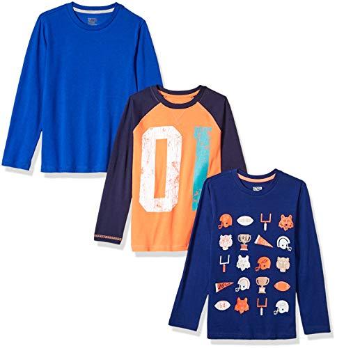 (Spotted Zebra Big Boys' 3-Pack Long-Sleeve T-Shirts, Football, XX-Large)