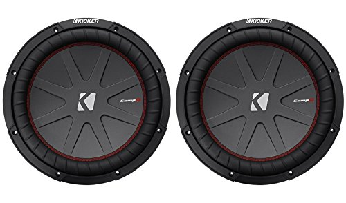 "Kicker 12"" 2000W Dual 2 Ohm Voice Coils CompR Car Subwoofer, Pair 