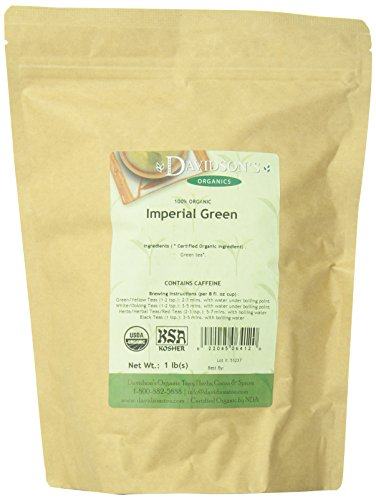 Tea Biodynamic - Davidson's Tea Bulk, Imperial Green Tea, 16-Ounce Bag