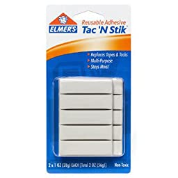 Elmer\'s Tac \'N Stik Reusable Adhesive, Pack of 2
