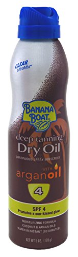 Dry Oil Continuous Spray (Banana Boat UltraMist Deep Tanning Dry Oil Continuous Clear Spray SPF 4 Sunscreen, 6 oz)