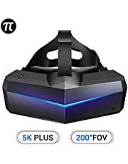 Pimax 5K Plus VR Virtual Reality Headset with Wide 200°FOV, Dual 2560x1440p RGB LCD Panels & 6 DOF Tracking, [EU Standard Adapter][Headset Only]