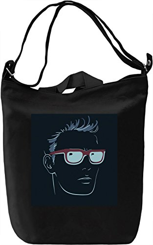 Guy With Suglasses Borsa Giornaliera Canvas Canvas Day Bag| 100% Premium Cotton Canvas| DTG Printing|