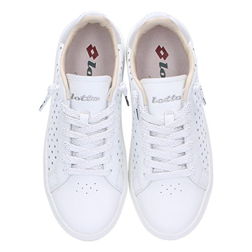Leggenda Leder Weiss L4609WHITE Damen Sneakers Lotto qwdgHq